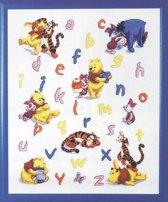 borduurpakket 6443-11 winnie the pooh, a.b.c.