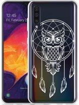 Galaxy A30s Hoesje Dream Owl Mandala White