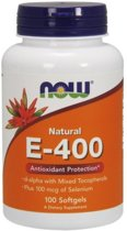 Vitamine E 400IU Now Foods 100softgels