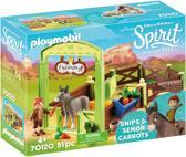Afbeelding van PLAYMOBIL Knip en Meneer Worteltjes met paardenbox - 70120 speelgoed