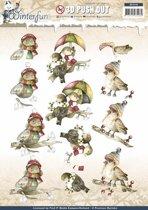 Uitdrukvel  - Precious Marieke - Winterfun - Grappige Vogels