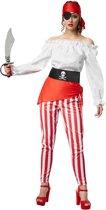 dressforfun 301766 Vrouwenkostuum Vrijbuitster Der Zeeën voor dames vrouwen L verkleedkleding kostuum halloween verkleden feestkleding carnavalskleding carnaval feestkledij partykleding