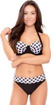Nickey Nobel Brigitte Dames Bikini - Zwart-wit - Maat C-D42