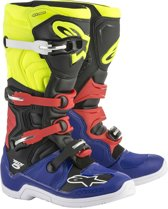 Alpinestars Crosslaarzen Tech 5 Blue/Black/Fluor Yellow/Red-39 (EU)