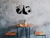 Houten Panda 1 - Dierenkop Panda - Houten Dier - Geometrische Dieren - Zwart - 48cm