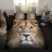 Leeuw 2 persoons dekbedovertrek, Leeuwen dekbed 200 x 200 cm.