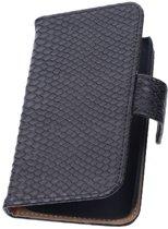 HTC Desire 816 Zwart | Snake bookstyle / book case/ wallet case Hoes  | WN™