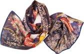Sjaal * scarf * shawl * Silkroute shawl * Vy * wollen shawl *  herfst * winter * blauw