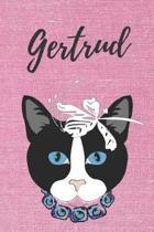 Gertrud Notizbuch Katze / Malbuch / Tagebuch / Journal / DIN A5 / Geschenk: individuelles personalisiertes blanko M�dchen & Frauen Namen Notizbuch, ..