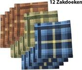 Zakdoeken - Heren - 12 zakdoeken - Sorprese - cadeauset - heren zakdoeken - zakdoek - 9