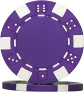 Pokerchip Dice Chip 11.5 Gram Paars 25 Stuks