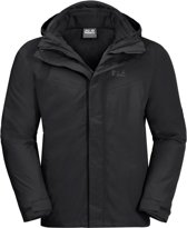 Jack Wolfskin Gotland 3in1 Heren Outdoorjas - Blac
