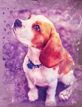 Cute Beagle Dog Composition Notebook, Wide Ruled