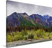 Kleurrijke bergen in het Nationaal park Kluane in Yukon Canvas 140x90 cm - Foto print op Canvas schilderij (Wanddecoratie woonkamer / slaapkamer)