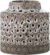 Bloomingville - Vaas Retro - Stoneware - Naturel - D10xH10 cm