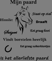 tekstbord mijn paard