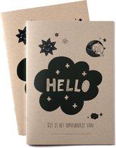Heen en weer boekjes oppasboekje voor kinderopvang 2 stuks - ecologisch