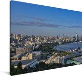 Stadshorizon van Bakoe in Azerbeidzjan Canvas 90x60 cm - Foto print op Canvas schilderij (Wanddecoratie woonkamer / slaapkamer)