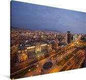 Luchtfoto van Lima in de avond Canvas 30x20 cm - klein - Foto print op Canvas schilderij (Wanddecoratie woonkamer / slaapkamer)