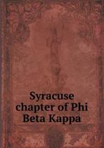 Syracuse Chapter of Phi Beta Kappa