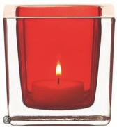 Leonardo Cube Waxinelichthouder - Rood