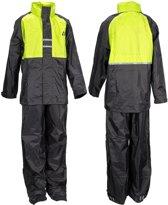 Ralka Regenpak - Kinderen - Unisex - Maat 140 - Lime/Antraciet