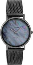 OOZOO Vintage C9369 Titaniumlook horloge  (32 mm) - Zwart