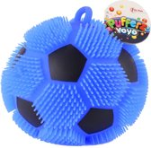 Toi-toys Pufferbal Voetbal Blauw 13 Cm