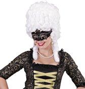 Venetiaans masker met zwarte strass voor volwassenen - Verkleedmasker