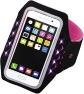 """Hama Sport-armband """"Running"""" voor smartphones, maat XXL, met led, pink"""