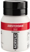 Amsterdam acrylverf 105 Titaanwit  500ml