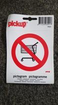 Verboden Winkelwagens sticker