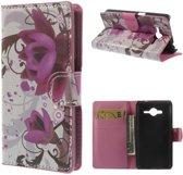 Wallet Stand Case Samsung Galaxy Core 2 Lotus