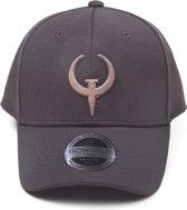 Quake - Classic Quake Logo Curved Bill Cap - Pet - Zwart