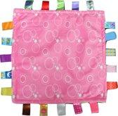 Knuffeldoek Labeldoek Baby Roze Bubbels