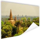 Bagan tempels in Myanmar Azie Poster 180x120 cm - Foto print op Poster (wanddecoratie woonkamer / slaapkamer) XXL / Groot formaat!