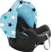 Dooky Hoody - Zonnekap autostoel - Blauwe sterren