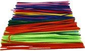 Chenille draad, dikte 4 mm, l: 30 cm, diverse kleuren, 300div