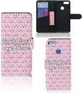 Xiaomi Mi A1 Portemonnee Hoesje Flowers Pink DTMP
