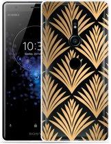 Xperia XZ2 Hoesje Art Deco Gold