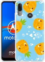 Motorola Moto E6 Plus Hoesje Love Ananas