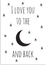 DesignClaud I Love You To The Moon And Back A4 poster zonder fotolijst