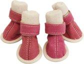 Comfort boots voor de hond licht roze. - Schoenmaat: 5 LENGTE 5,5 CM / BREEDTE 4,5 CM