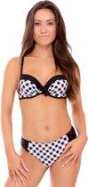 Nickey Nobel Brigitte Dames Bikini - Zwart-wit - Maat A-B42