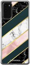 Samsung Galaxy S20 siliconen hoesje - Marble stripes