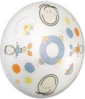 EGLO Junior 2 Wand/Plafondlamp Kinderkamer - 2 Lichts - Wit - Motief Jongen