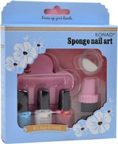 KONAD nagel spons set SPONGE NAIL ART, 12-delig pakket.