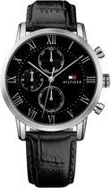 Tommy Hilfiger  Kane TH1791401 Horloge - Leer - Zwart - Ø 44 mm