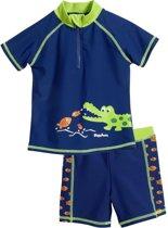 Playshoes tweedelige zwemsuit blauw krokodil