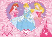 Disney Princess speelkleed hart 95 x 133 cm